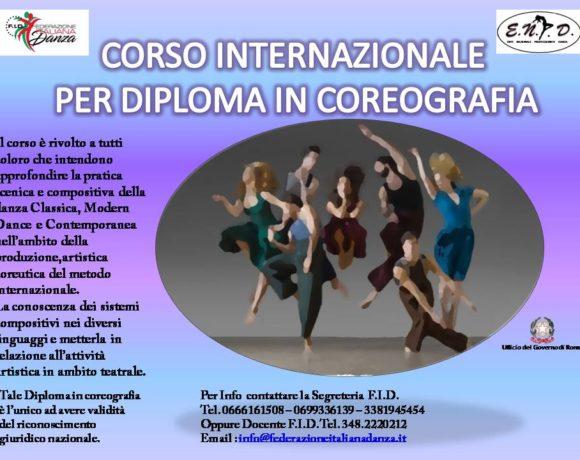 Corso internazionale per diploma in coreografia